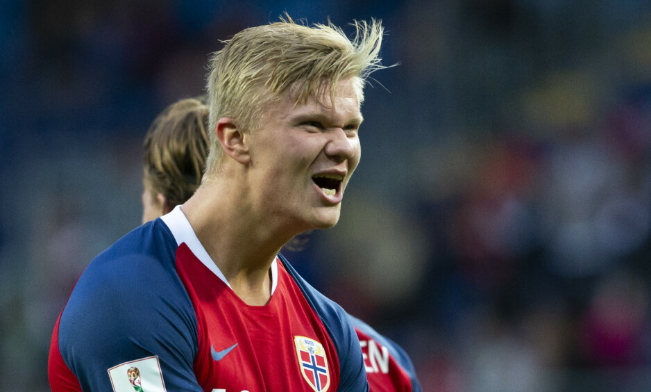 MÅLMASKIN: Erling Braut Haaland har debutert på landslaget og herjer for klubblaget. Foto: NTB Scanpix