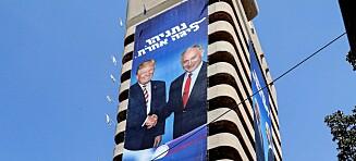 Netanyahu og Israel bader seg i mørkeblått foran valget