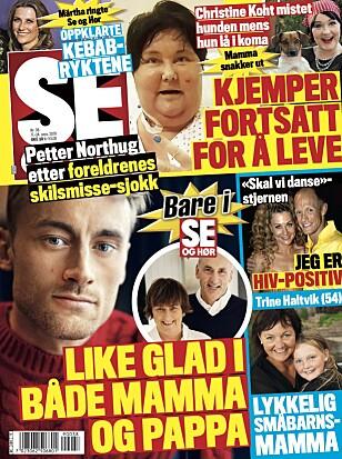<strong>ÅPNER OPP:</strong> Det er til Se og Hør at Petter Northug kommenterer foreldrenes skilsmisse. Faksimile Se og Hør