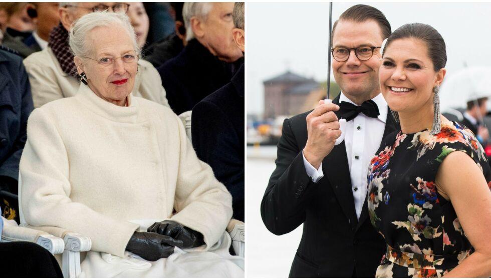 FRAVÆRENDE: Dronning Margrethe skal ikke møte kronprinsesse Victoria og prins Daniel når de denne uka besøker Danmark. Foto: NTB Scanpix