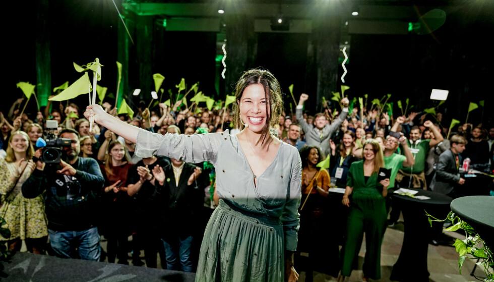 <strong>VENSTRE-FLØRT:</strong> Lan Marie Berg og MDG har nå møtt Venstre til samarbeidssamtaler. Foto: John T. Pedersen / Dagbladet