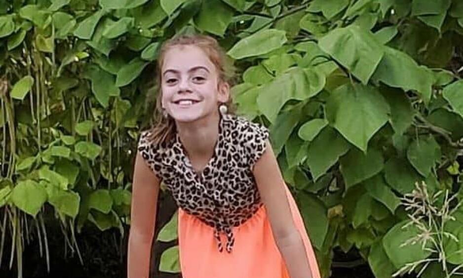 DØDE: Ti år gamle Lily Avant mistet livet til en svært sjelden og livsfarlig amøbe. Foto: Facebook