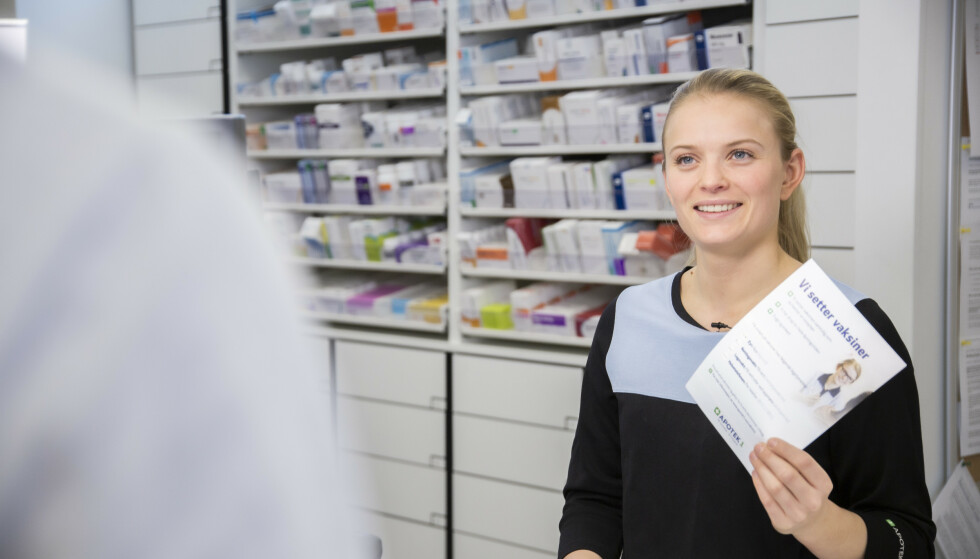 RUTINERT: Bare i fjor satte Apotek 1s Maren Lima personlig 70 influensavaksiner.
