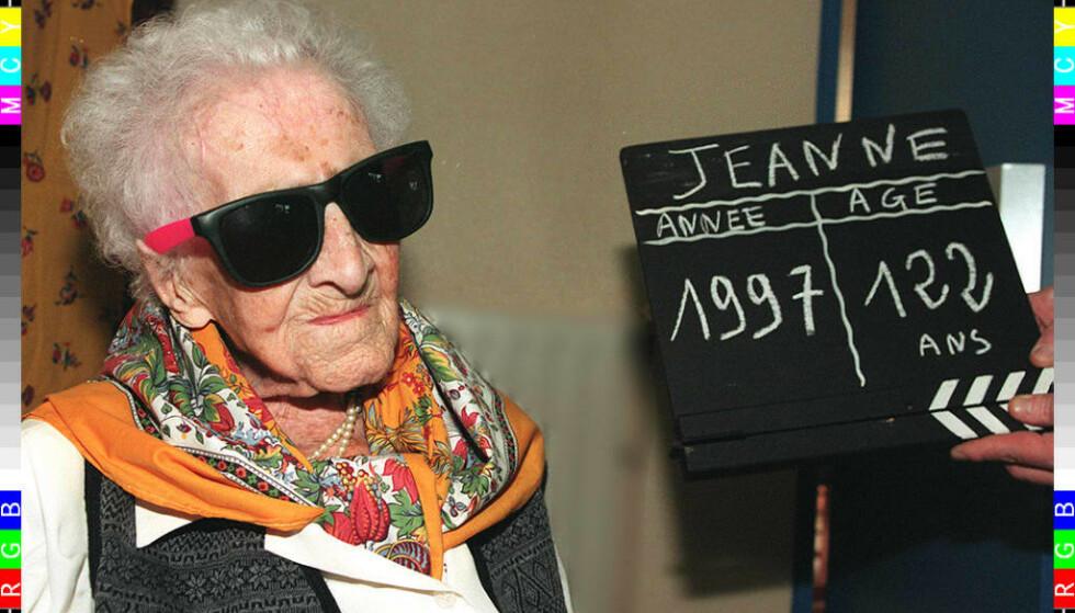 FREMDELES REKORDHOLDER: Over 20 år etter hennes død oppsto det plutselig tvil om verdens eldste person Jeanne Calment faktisk ble 122 år gammel eller ikke. Men en fransk forskningsrapport legger ballen død, og Calment beholder sin plass i Guiness rekordbok. Foto: AFP / NTB scanpix
