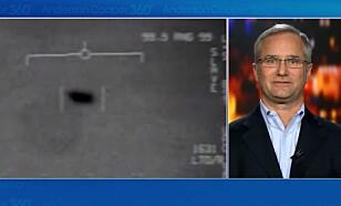 David Fravor er pensjonert pilot. Han var selv vitne til UFO-ene. Foto: CNN