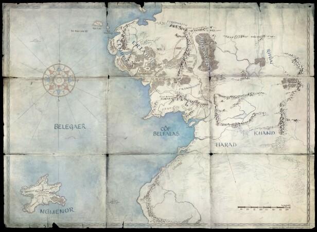 HINT: Ett av fem kart over Midgard som er sluppet av Amazon. Fansen leter i kartene etter ledetråder til handlingen. Foto: Amazon