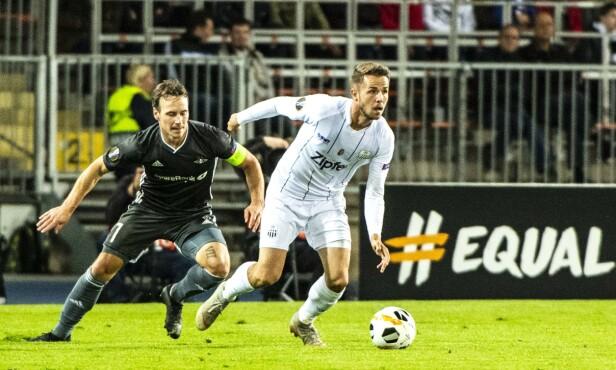 <strong>HANG ETTER:</strong> Mike Jensen og Rosenborg. Foto: NTB Scanpix