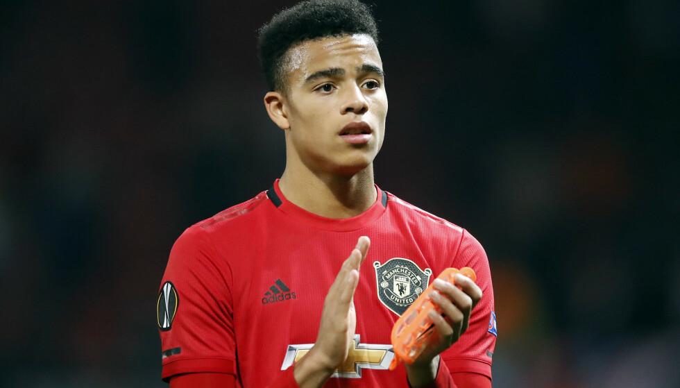 <strong>ÅPNET MÅLKONTOEN:</strong> Mason Greenwood scoret sitt første mål for seniorlaget til Manchester United i går. 17-åringen spås en stor framtid av tidligere United-spillere. Foto: Martin Rickett / PA Photos / NTB Scanpix