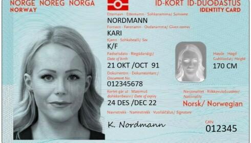 ID-kort: Du skal få nasjonalt id-kort med eller uten reiserett. Med reiserett kan du bruke det i stedet for pass når du reiser i Europa og andre land som Norge har spesialavtale med. Foto: Justisdepartementet,