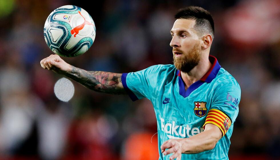 TAP: Selv med Lionel Messi tilbake fra skade klarte ikke Barcelona å ta med seg poeng hjem fra møte med Granada. Foto: REUTERS/Marcelo Del Pozo /NTB Scanpix