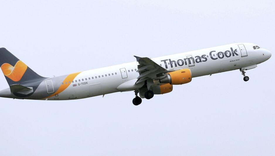 TURBULENS: Thomas Cook, som eier det norske reiseselskapet Ving, risikerer konkurs. Skulle det skje, er det uvisst hvordan norske reisende blir påvirket. Foto: Tim Goode / AP / NTB scanpix