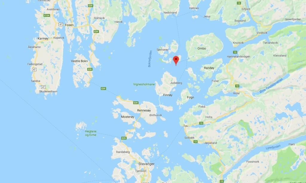 BOKNAFJORDEN: Boknafjorden ligger mellom Stavanger og Haugesund. Foto: Google Maps