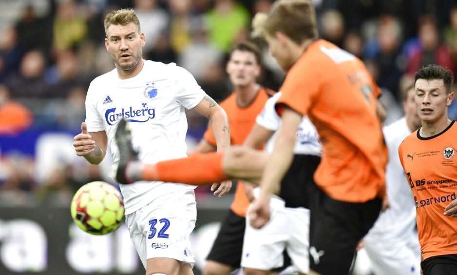 SCORET: Nicklas Bendtner åpnet målkontoen i cupseier. Foto: Bo Amstrup/Ritzau Scanpix / NTB scanpix