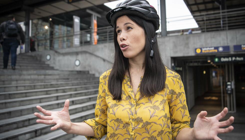 GRØNN FLØRT: Venstre håper å lokke MDG og Lan Marie Berg til et grønt samarbeid i Oslo - på bekostning av Rødt. Foto: Lars Eivind Bones / Dagbladet