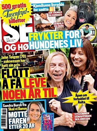 ÅPENHJERTIG: Jahn Teigen snakker om livet og karrieren til Se og Hør. Faksimile: Se og Hør