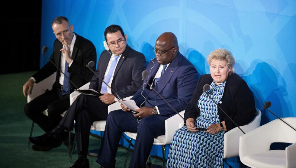 <strong>LEVERTE IKKE:</strong> Før FNs klimatoppmøte var FNs generalsekretær streng: Statsledere var ikke invitert for å tale, men for å annonsere konkrete tiltak. Men det Norge leverte fra talerstolen må ha skuffet António Guterres +++ Foto: Pontus Höök / NTB scanpix