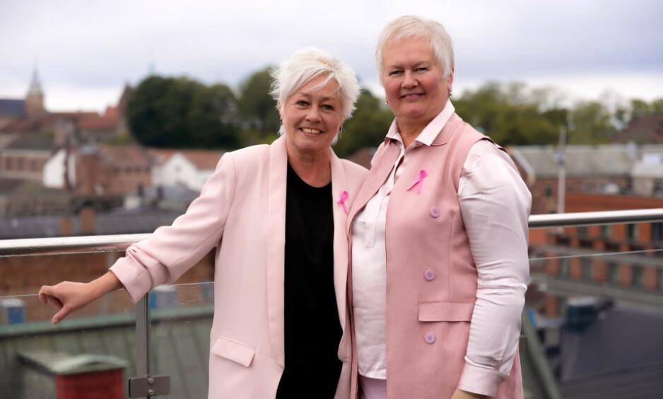 HVER DAG FÅR NI UNIKE KVINNER BRYSTKREFT: Historiene til Anne Lise Ryel og Ellen Harris Utne illustrerer godt hvor ulikt kreften rammer. FOTO: Jorunn Valle Nilsen