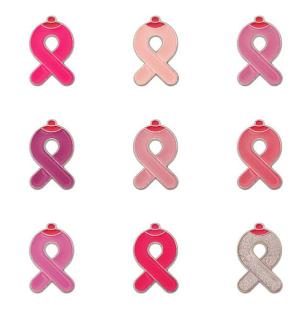 NI NYANSER: Hver dag får ni kvinner brystkreft. Alle disse er ulike. Derfor kommer årets Rosa sløyfe i ni nyanser. FOTO: Steffen Aaland