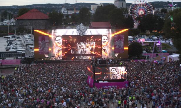 NORGESBESØK: DJ Tiësto opptrådte under festivalen Palmesus i Kristiansand i sommer. Foto: NTB Scanpix