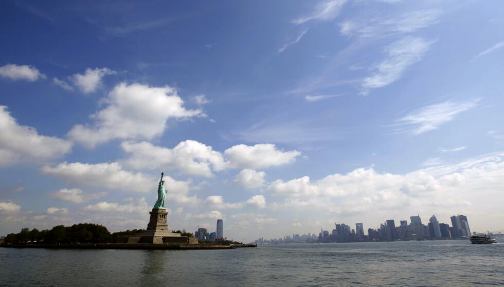<strong>UTSATT:</strong> Millionbyer langs kysten, her representert ved New York, vil bli rammet av årlig ekstremvær i 2050. Foto: REUTERS / Mike Segar / NTB scanpix