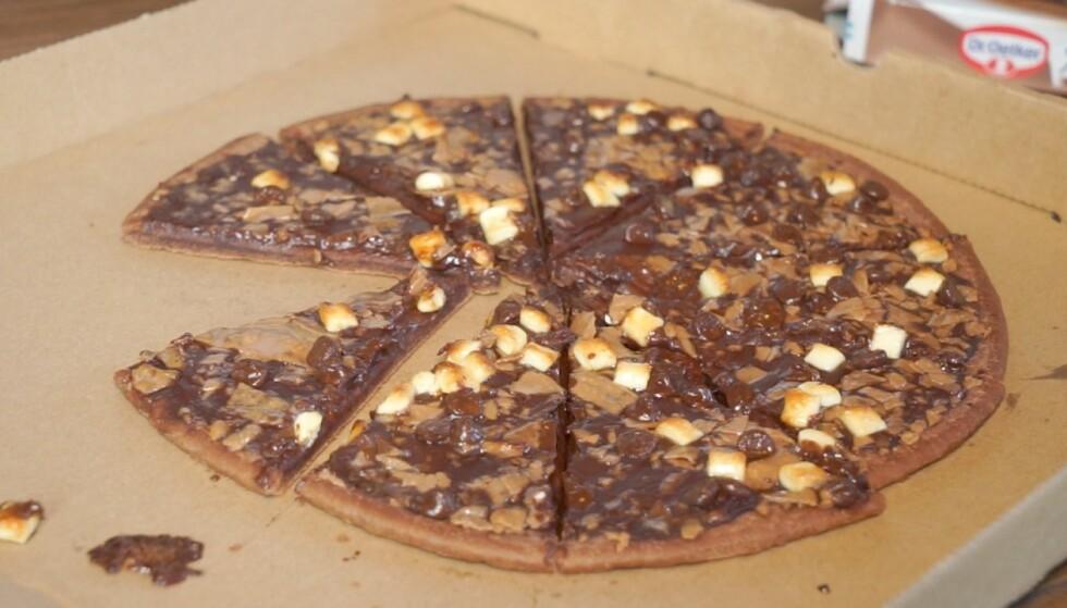 SØTT FARVEL: Dr. Oetkers sjokoladepizza en en av flere matvarer som forsvinner fra butikkene i høst. Foto: Endre Vellene / Dagbladet