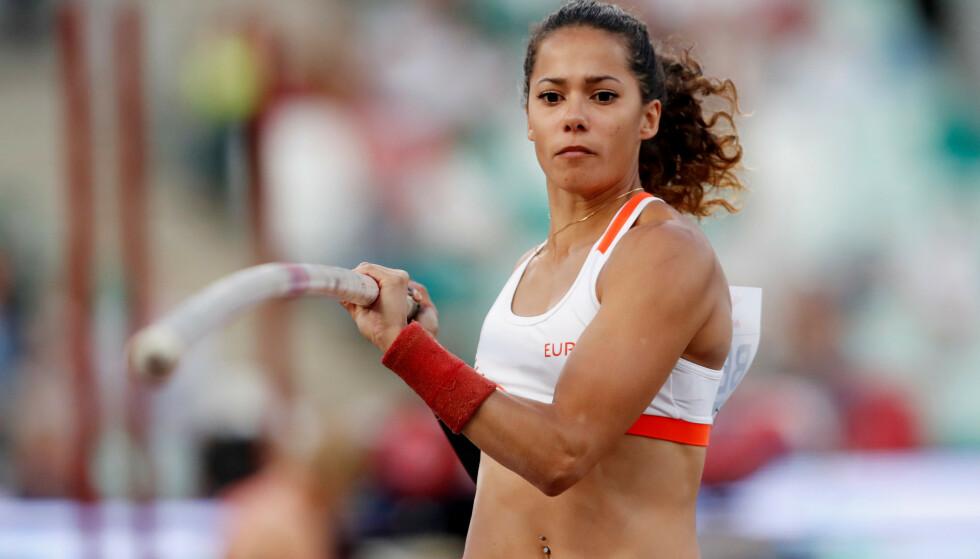 RASER: Angelica Bengtsson var ikke fornøyd med hotellet det svenske friidretts-landslaget endte opp på. Foto: REUTERS / Vasily Fedosenko / NTB Scanpix