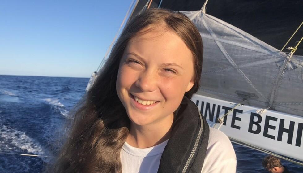 <strong>SVARER PÅ HETSEN:</strong> Klimaaktivisten Greta Thunberg svarer på hetsen hun har mottatt de siste dagene. Foto: Greta Thunberg / Twitter