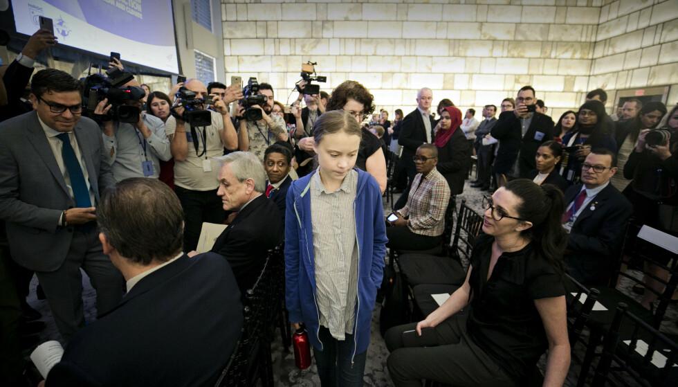 I New York: På bare ett år har Thunberg blitt verdenskjent for sin aktivisme.  Foto: Pontus Höök / NTB scanpix