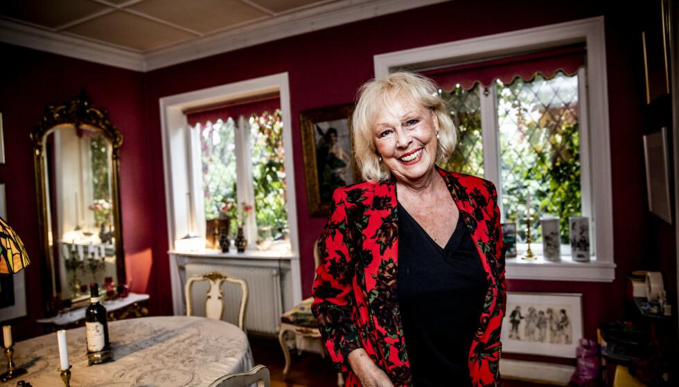 FØLGER RÅDENE I STUDIEN: Skuespiller Lise Fjeldstad er blitt 80 år. - Jeg syns jeg har vært heldig i livet. Foto: Christian Roth Christensen / Dagbladet.