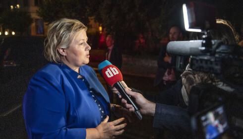 MYE KAN SKJE: Statsminister Erna Solberg sier Høyre skal jobbe seg oppover, og mener mye kan skje på to år. Foto: Bjørn Langsem/Dagbladet