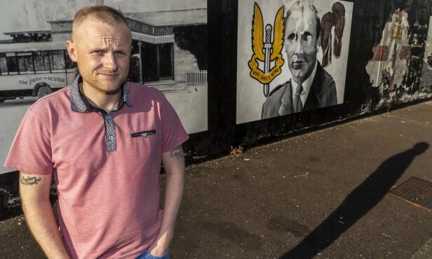 MOTSTAND: Får EU viljen sin vil unionistene i Nord-Irland, de som vil fortsette å være del av Storbritannia, yte motstand i «sterkest mulig grad», sier aktivisten Jamie Bryson. Foto: Hans Arne Vedlog / Dagbladet