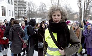 KRITISK: Seniorrådgiver Ina Tin i Amnesty. Her fra en demonstrasjon utenfor den saudiarabiske ambassaden i Oslo. Foto: Vidar Ruud / NTB Scanpix