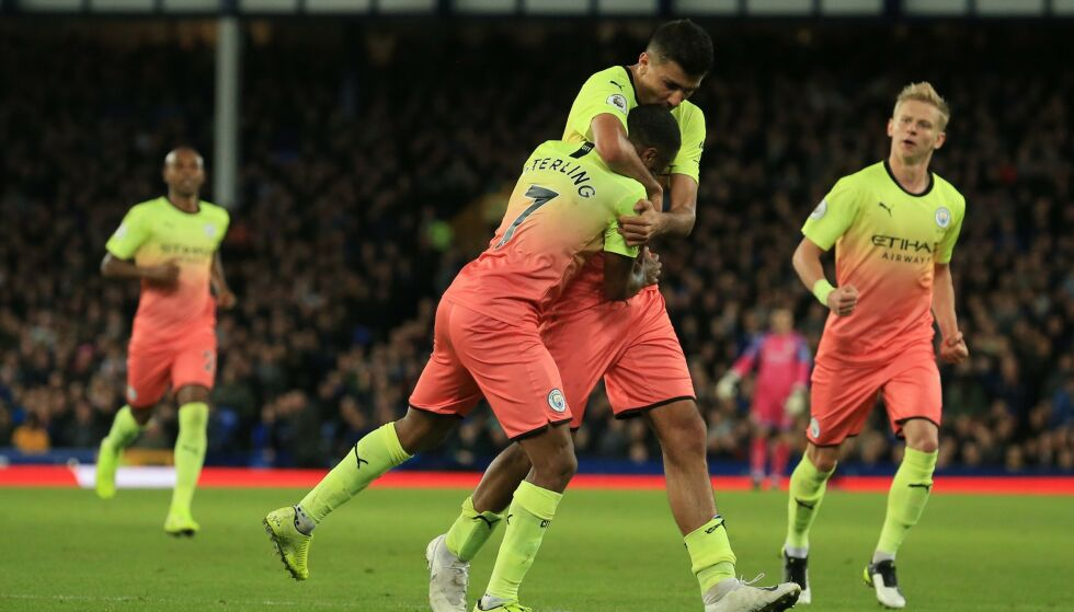 JUBLET FOR SEIER: Manchester City vant til slutt greit mot Everton. Foto: Lindsey Parnaby / AFP / NTB Scanpix
