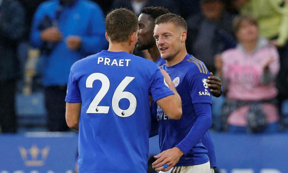 VANT: Leicester lekte seg mot Newcastle. Foto: REUTERS / Andrew Yates / NTB Scanpix