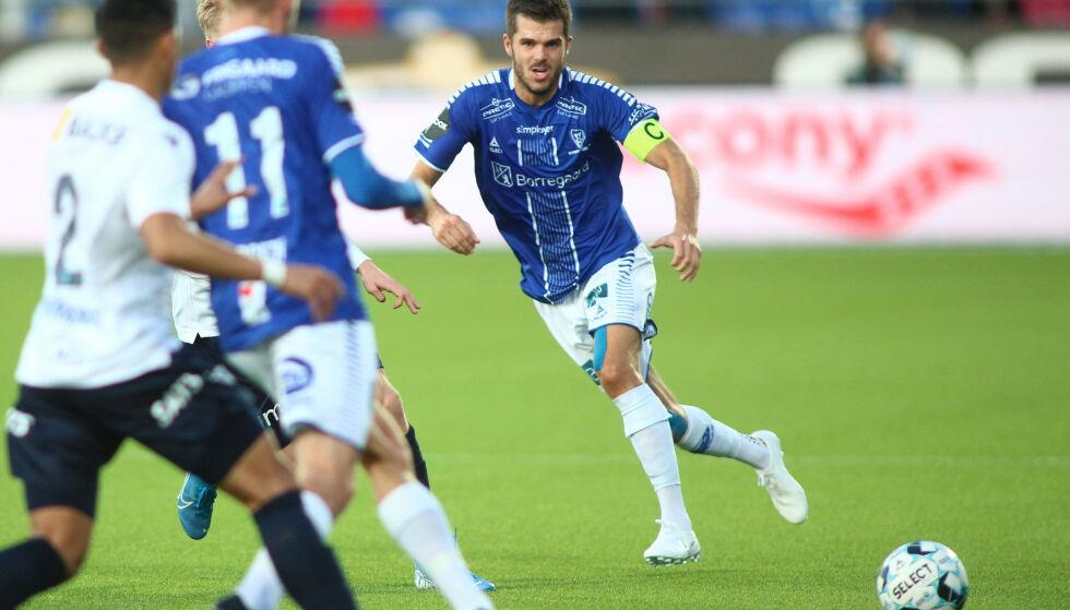 SIST: Sarpsborg 08s Joachim Thomassen klarte ikke slå Stabæk. Foto: Christoffer Andersen / NTB scanpix