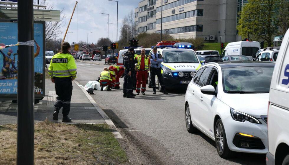 DØDE: En mopedfører i 40-åra omkom i kollisjon med en lastebil på Hasle i Oslo 2. mai i fjor. Foto: Øistein Norum Monsen / Dagbladet