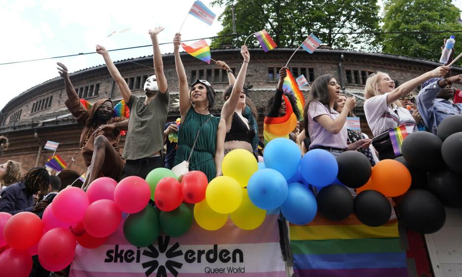 EN DEL AV VOLDSSTATISTIKKEN: Oslo Pride er noe av det jeg gleder meg mest til hvert eneste år. Men i år ble jeg en del av voldsstatistikken. For meg ble det nok en bekreftelse på at det å tilhøre en minoritet gjør meg ekstra utsatt for å oppleve vold og hat, skriver innsenderen. Foto: Fredrik Hagen / NTB scanpix