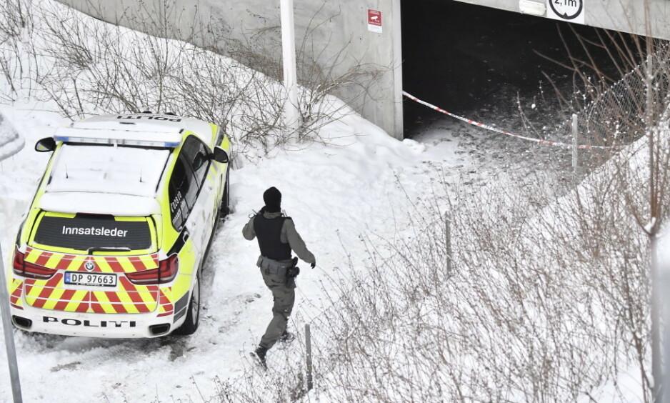 FATALT: Politiet mener den polske mannen som ble skutt på Bjørndal i Oslo i mars 2018 var et tilfeldig offer som prøvde å hjelpe til med en fastkjørt bil. Foto: Lars Eivind Bones / Dagbladet