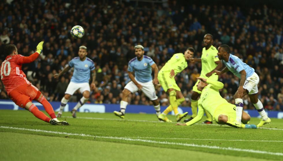 STANGET: Manchester City måtte jobbe for de tre poengene i kveldens Champions League-møte med Dinamo Zagreb. Foto: NTB/Scanpix