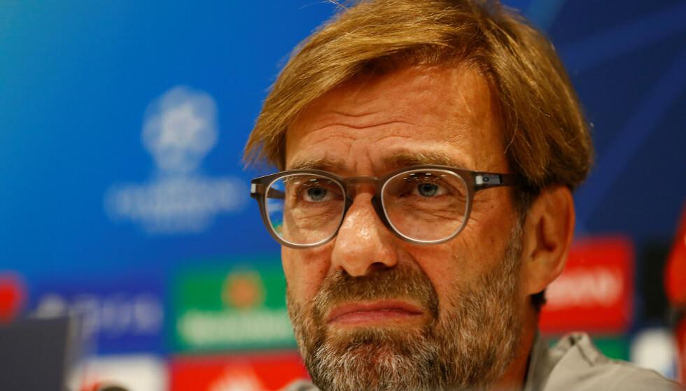 FÅR SPILLE MOT ARSENAL: Jürgen Klopp var mest bekymret for spilleren i saken som kunne endt med at klubben ble kastet ut av Ligacupen. Nå slipper Liverpool unna med ei bot på omlag to millioner kroner. Foto: NTB/Scanpix