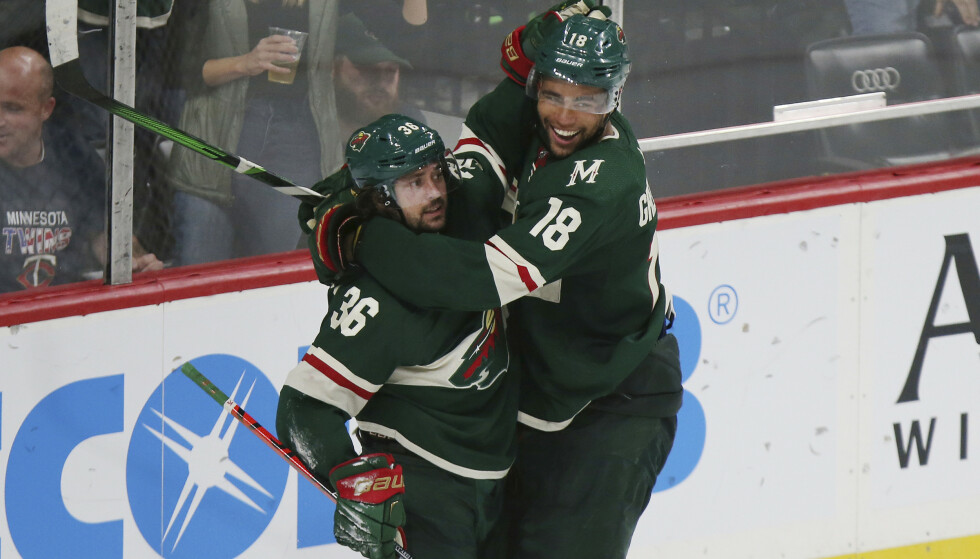 TAPTE: Mats Zuccarello og Wilds. Foto: AP Photo/Stacy Bengs