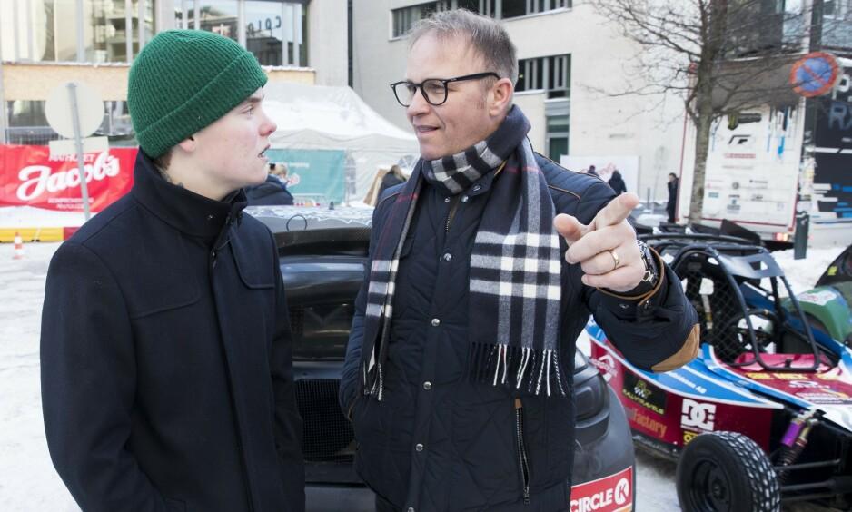 FAR OG SØNN: Oliver og Petter Solberg. Foto: NTB scanpix