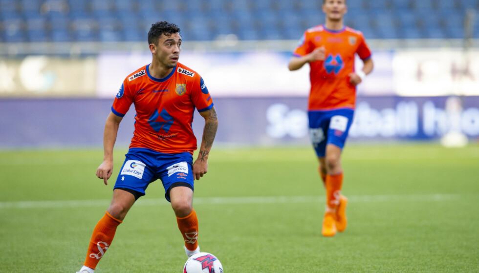 OVERRASKER: Niklas Castro har aldri spilt for en norsk landslag. Nå får han sjansen på aller høyeste nivå. Foto: NTB scanpix