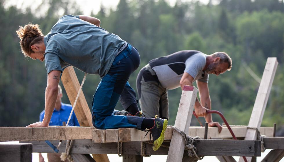 <strong>GA SEG:</strong> Leif Haugo Stavenjord opplevde problemer med sagen i sluttspurten, og valgte derfor å hoppe av tvekampen like før den var slutt. Foto: Alex Iversen / TV 2