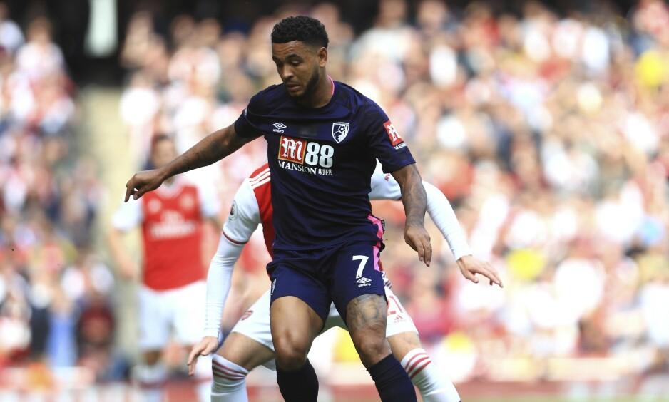 TAPTE: Joshua King og Bournemouth tapte mot Arsenal. Foto: AP Photo / Leila Coker / NTB Scanpix