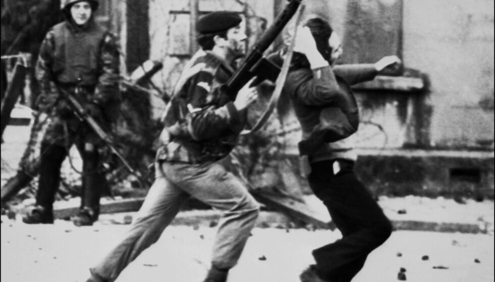 BLOODY SUNDAY: 30. januar 1972 skjøt og drepte britiske soldater 13 katolske demonstranter i Bogside i Londonderry i Nord-Irland. Det regnes som en av de mest sentrale hendelsen under konflikten i Nord-Irland, ofte kalt The Troubles på engelsk. Foto: AFP / NTB Scanpix