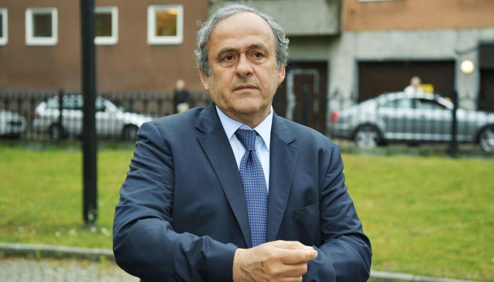 FERDIG SONET: Supensjonen som Michel Platini har hatt hengende over seg i fire år er over. Foto: Anders Wiklund/TT / NTB scanpix
