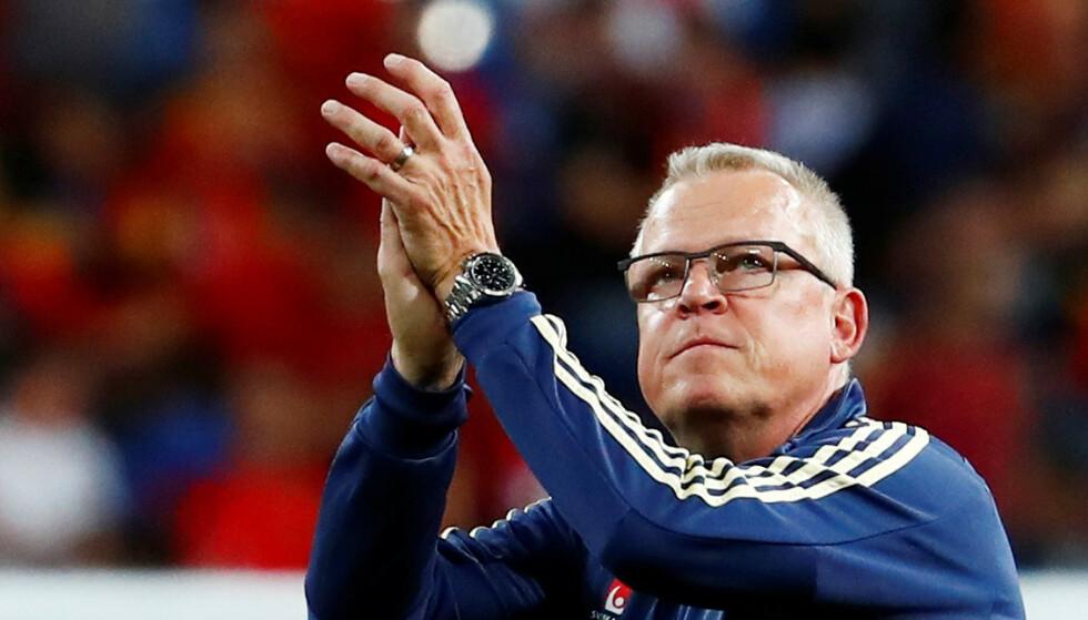 TRENER: Janne Andersson. Foto: REUTERS/Juan Medina