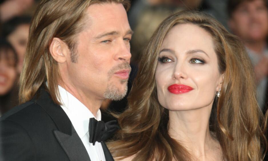 MISTET SEG SELV: Angelina Jolie forteller at hun følte seg liten, nesten ubetydelig da hun var sammen med skuespillerkollega Brad Pitt Foto: NTB Scanpix