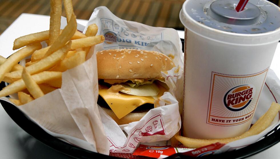 MATJUKS: Svenske Aftonbladet har rullet opp en stor matskandale hos Burger King i Sverige. Illustrasjonsfoto: Shutterstock / NTB Scanpix